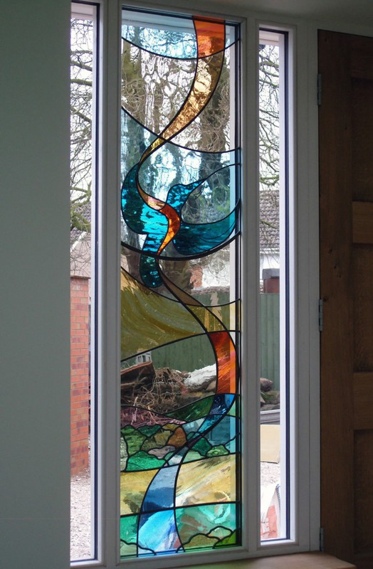 Abstract kingfisher panel