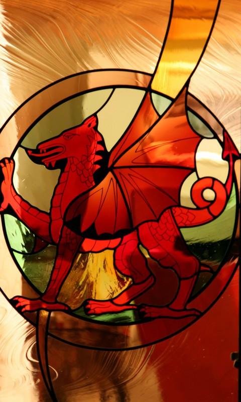Welsh Dragon door panel