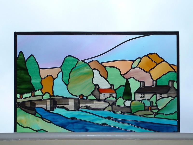 Derbyshire landscape window panel