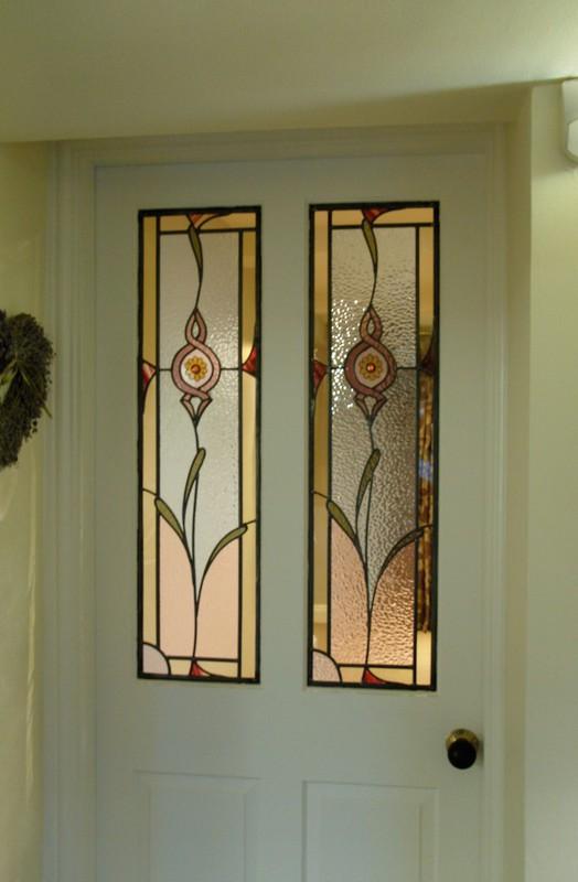 Floral door panels